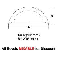 "BVHR4-Half Circle Bevel 4""x2"""