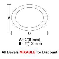 "BVO24-Oval Bevel 2""x4"""