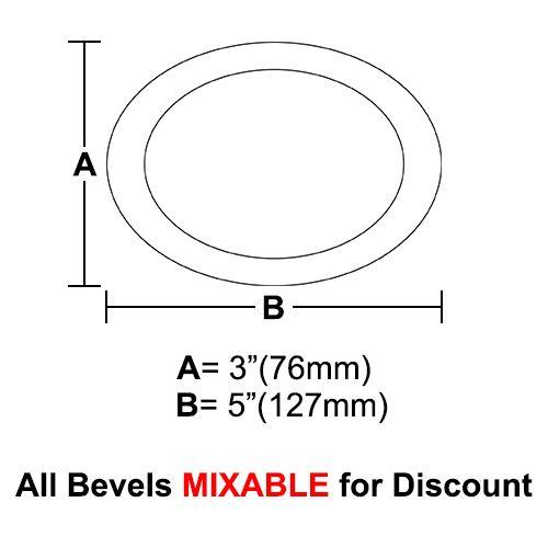 "BVO35-Oval Bevel 3""x5"""