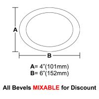 "BVO46-Oval Bevel 4""x6"""