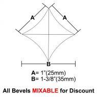 "BVPS11-Pointed Star Bevel 1""x1""x1-3/8"""