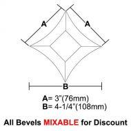 "BVPS33-Pointed Star Bevel 3""x 3""x 4-1/4"""