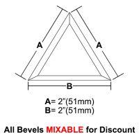 "BVT22-Triangle Bevel 2""x 2""x 2"""