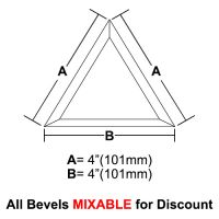 "BVT44-Triangle Bevel 4""x4""x4"""
