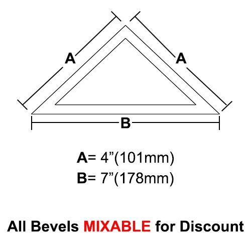 "BVT47-Triangle Bevel 4""x4""x7"""