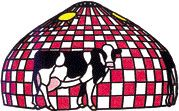 CF1818-Country Checkerboard Chew'n Cow W Pattern