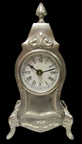 94000-Pewter Clock...SALE!