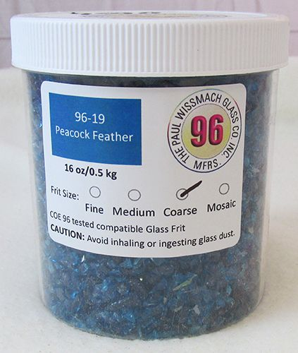 WF9590-Frit 96 Coarse Peacock Feather Trans. #96-19
